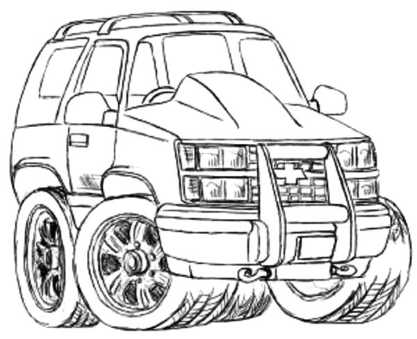 sketch chevy cars coloring pages