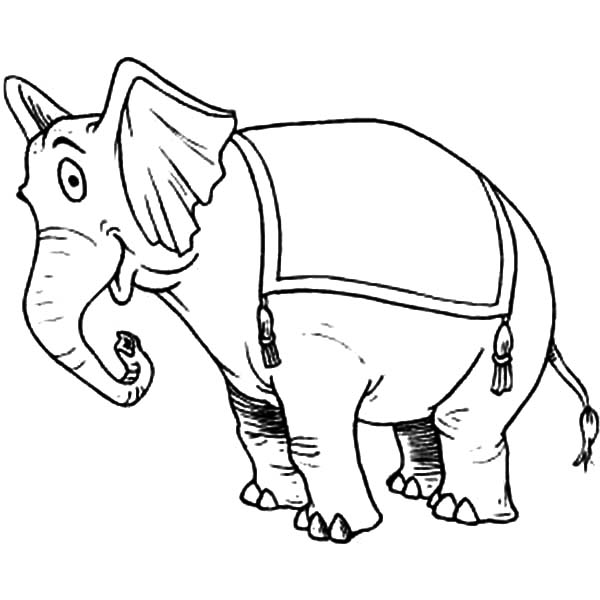 Republican Elephant Coloring Page Sketch