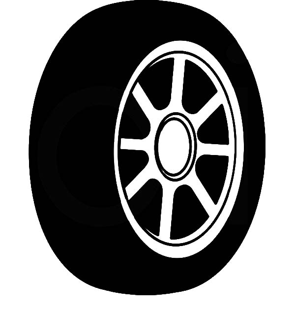 Car Tire, : Standard Car Tire Coloring Pages