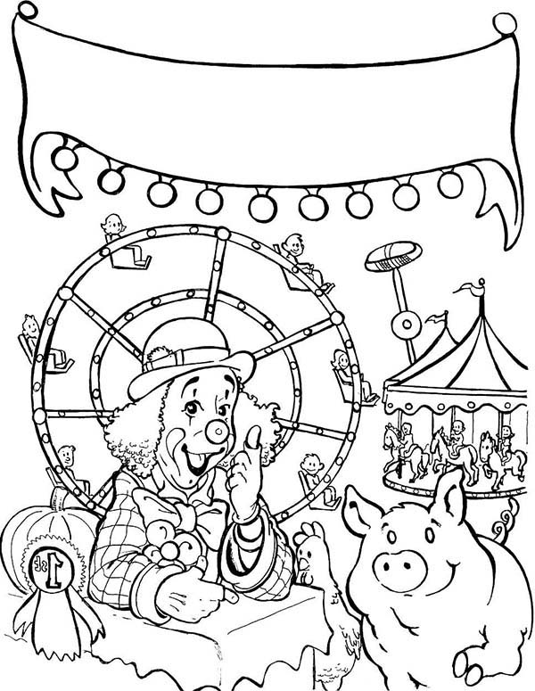 Carnival, : State Fair Carnival Coloring Pages