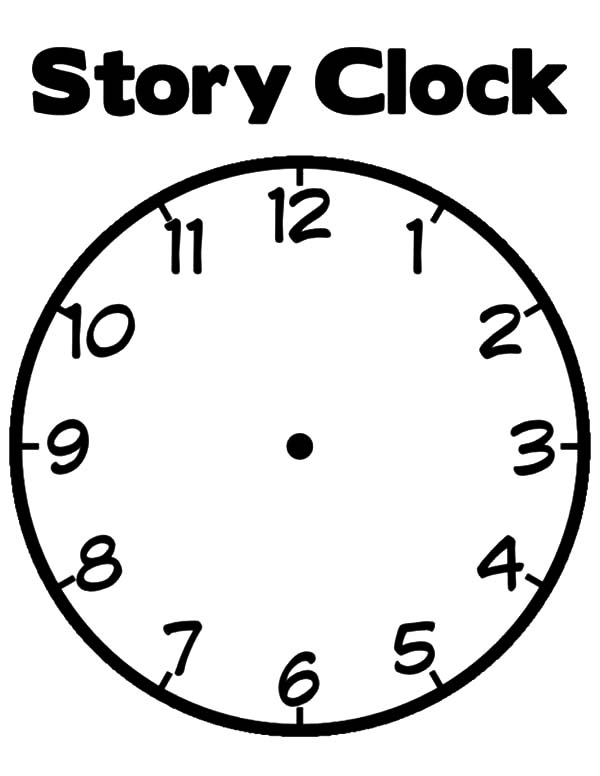 Clock, : Story Clock Coloring Pages
