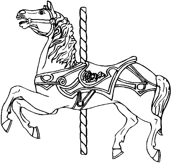 Find the best coloring pages resources here part 46 for Carousel horse coloring page