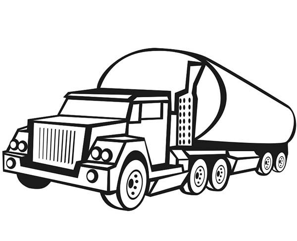 Car Transporter, : Tanker Truck Car Transporter Coloring Pages