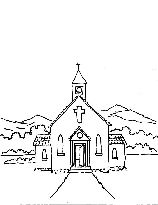 Coloring Pages For Church Coloring Coloring Pages For