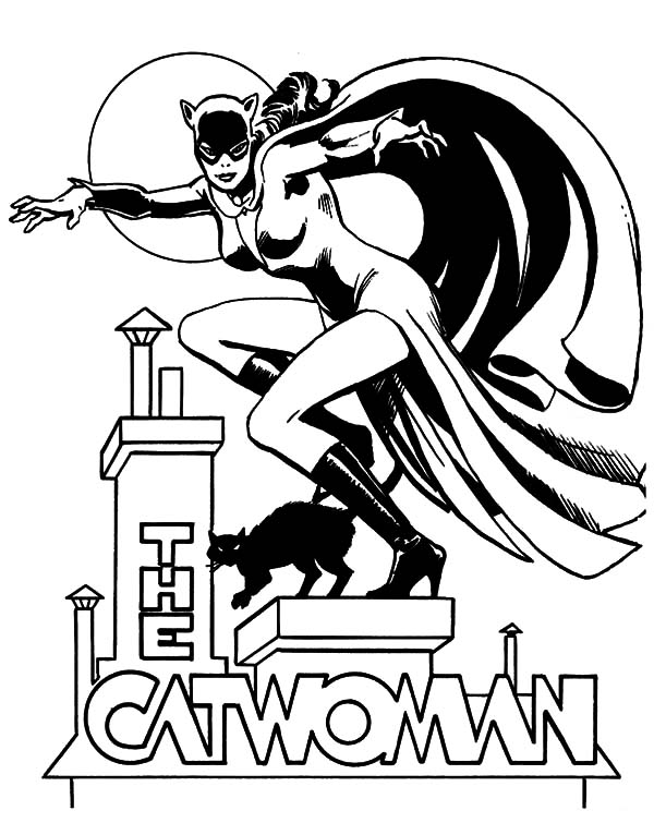Catwoman, : The Catwoman Coloring Pages