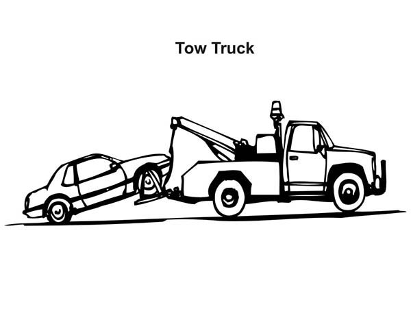 Car Transporter, : Tow Truck Car Transporter Coloring Pages