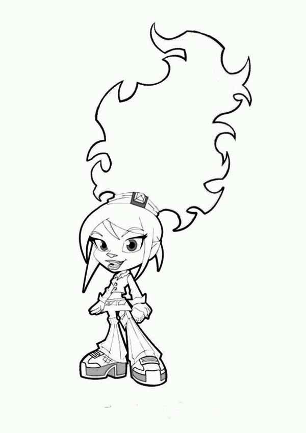 Trollz, : Trollz Character Topaz Trollhopper Coloring Pages