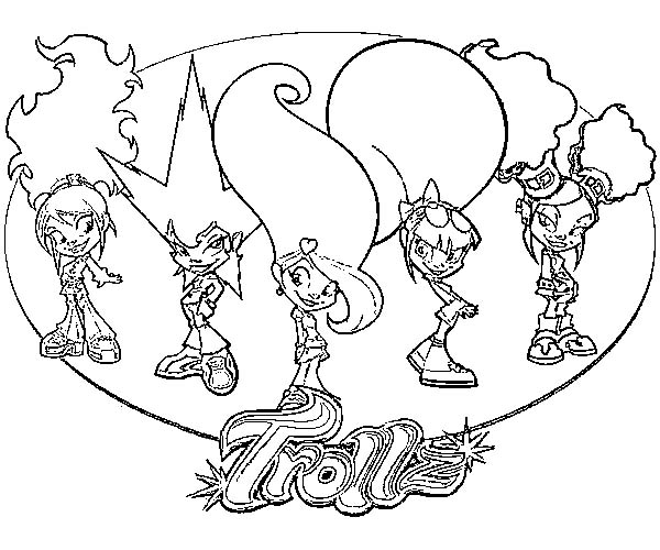 Trollz, : Trollz Characters Coloring Pages