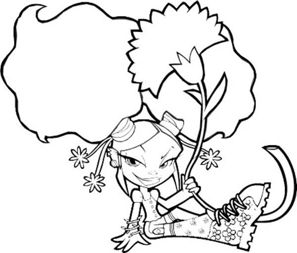 Trollz, : Trollz Onyx von Trollenberg Sitting Coloring Pages
