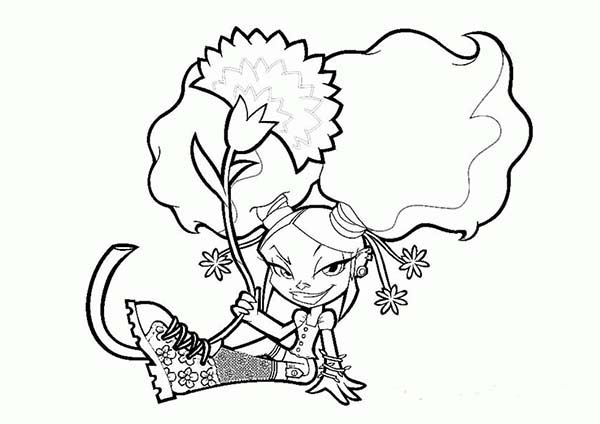 Trollz, : Trollz Onyx von Trollenberg Take a Picture with Flower Coloring Pages