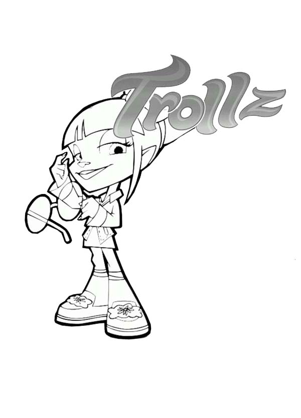 Trollz, : Trollz Sapphire Trollzawa Take Off Her Glassess Coloring Pages