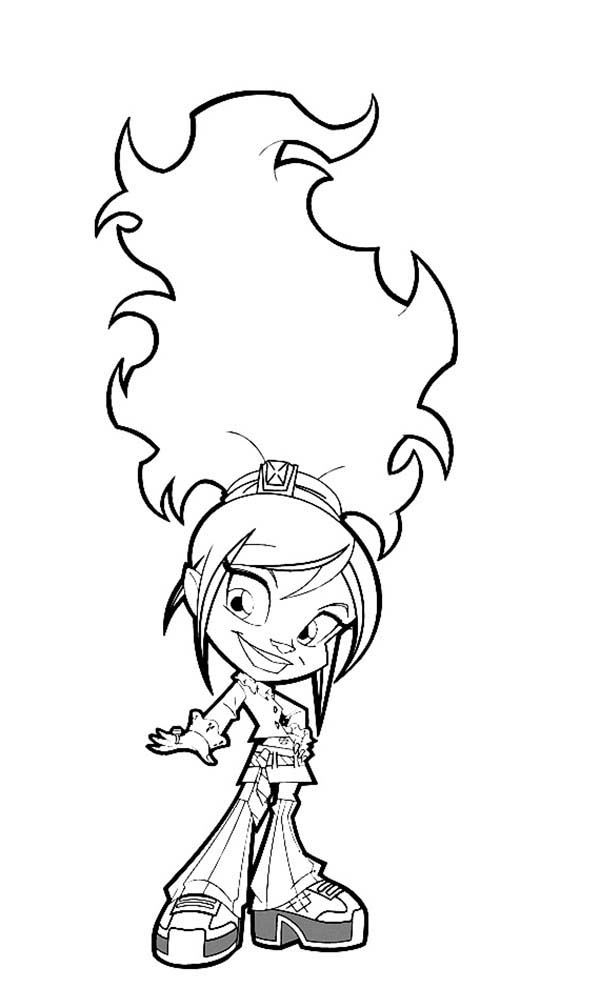 Trollz, : Trollz Topaz Trollhopper Posing for Photoshoot Coloring Pages
