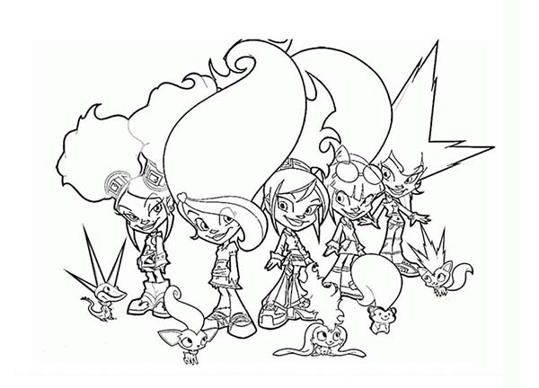 Trollz, : Trollz and Their Cute Pets Coloring Pages
