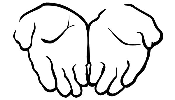 Hands, : Two Attached Hands Coloring Pages