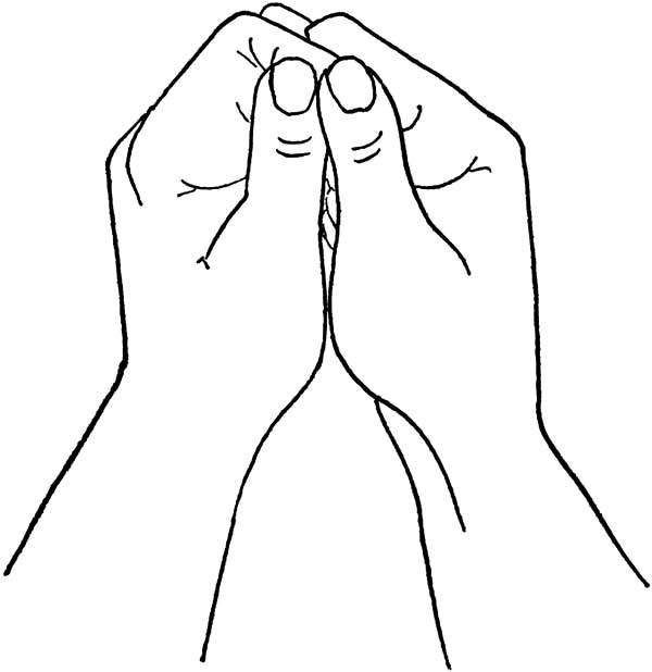Hands, : Two Thumbs Hands Coloring Pages