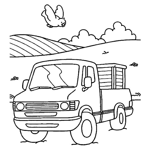 Car Transporter, : Village Car Transporter Coloring Pages