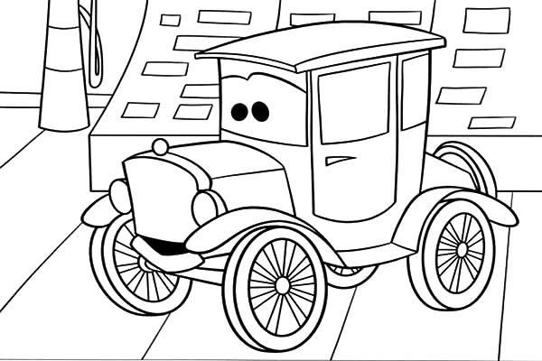 Car Tire, : Vintage Car Tire Coloring Pages