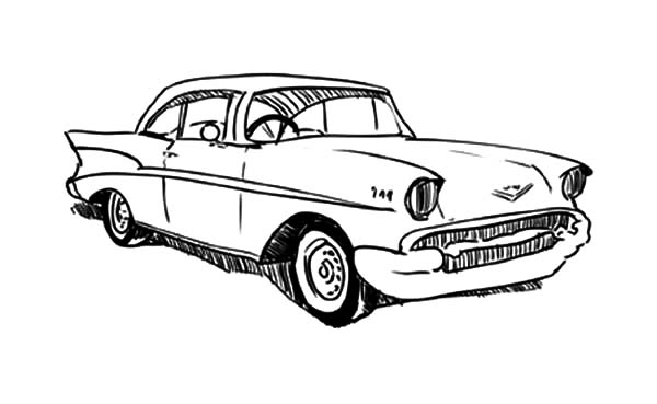64 chevy cars impala coloring pages