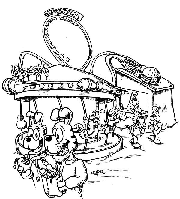 Carnival, : Visiting Carnival Coloring Pages