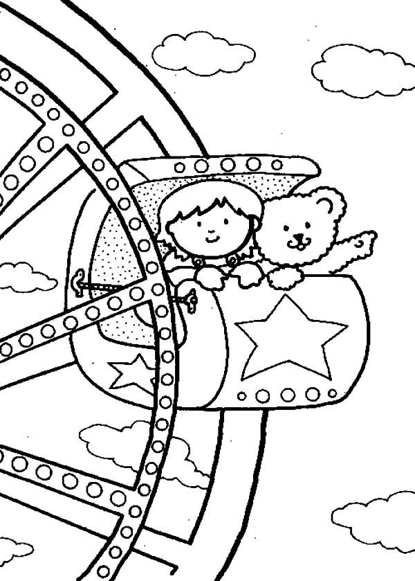 Carnival, : Watching View from Ferris Wheel Carnival Coloring Pages