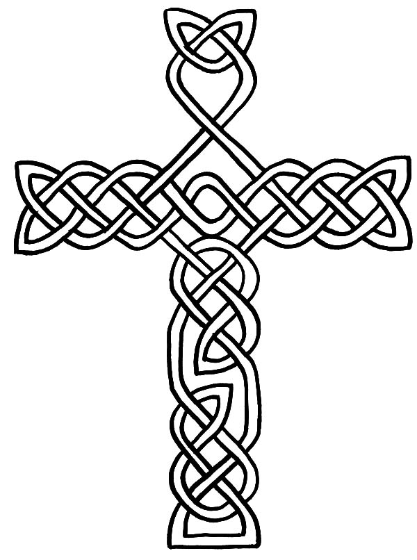 Welsh Celtic Cross Coloring Pages