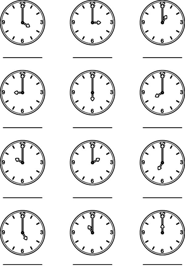 Clock, : time1