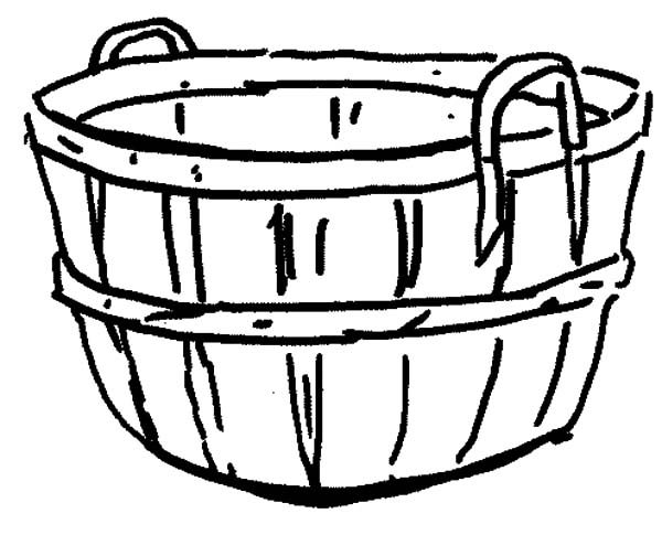 Basket Full Of Apples Coloring Page