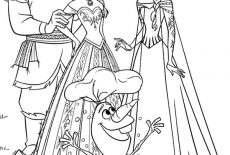 Anna Elsa Kristoff And Olaf Coloring Pages Best Place To Color