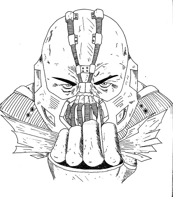 Dark knight rises coloring pages ~ Bane Batman Tom Hardy Coloring Pages : Best Place to Color
