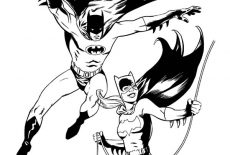 Batgirl Sketch Coloring Pages : Best Place to Color