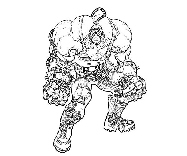 bane from batman coloring pages - photo#12