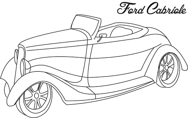 ford cabriole antique car coloring pages   best place to color