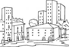 coloring pages apartment buildings | Big Apartment Building Coloring Pages : Best Place to Color