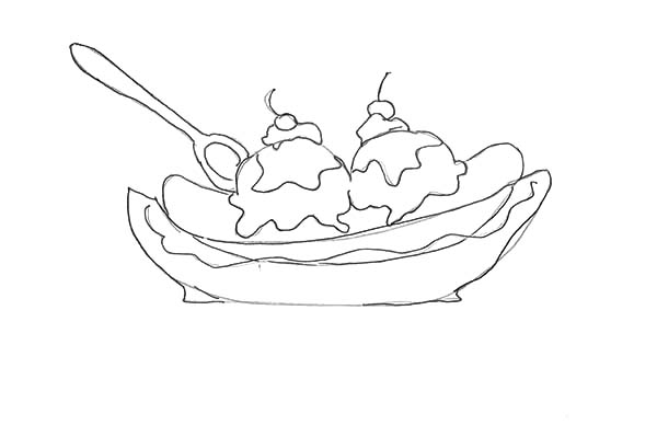 How To Draw Banana Split Coloring Pages Best Place To Color