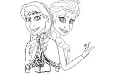 Princess Anna And Queen Elsa From Frozen Coloring Pages Best Place