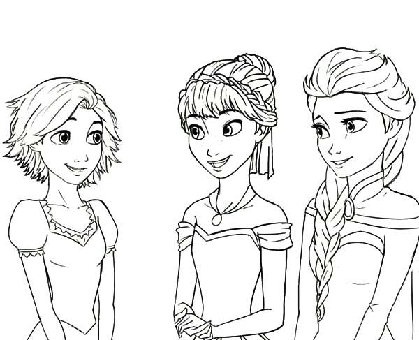 Rapunzel Is Princess Anna And Queen Elsa Cousin Coloring ...