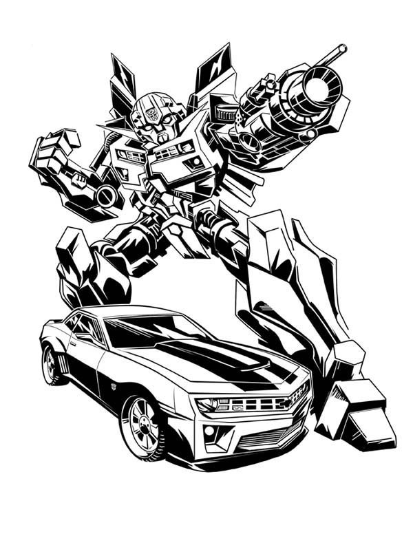 Awesome Bumblebee Car Image Coloring Pages | Best Place to ...