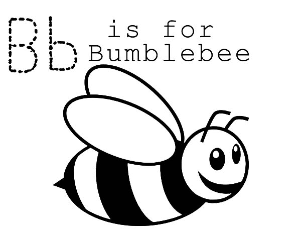 B Is For Bumble Bee Coloring Pages Best Place To Color