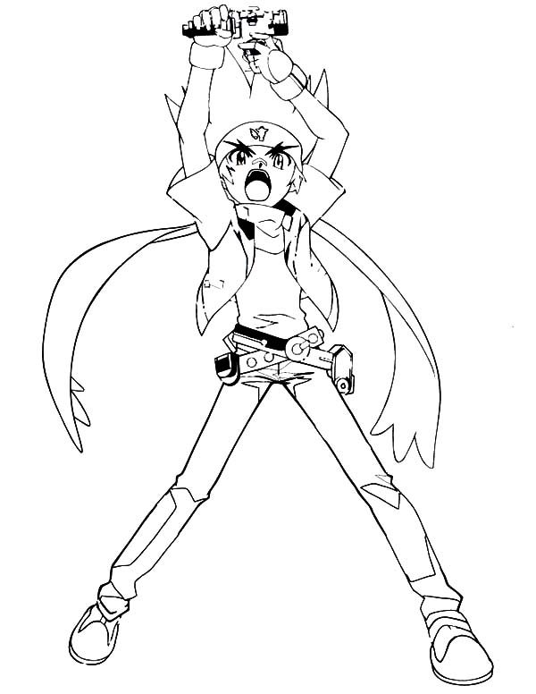 ginga beyblade coloring pages - photo#2