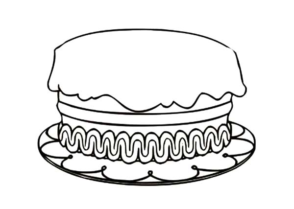 Birthday Cake Coloring Pages : Best Place to Color