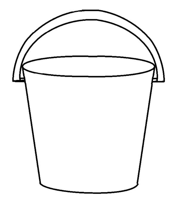 Bucket picture coloring pages best place to color for Sand bucket template