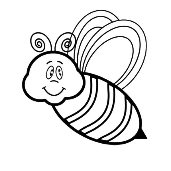 Bee - Free Coloring Pages