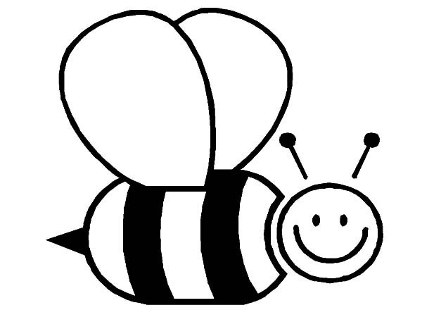 Bumble Bee is Smiling Wide Coloring Pages   Best Place to ...