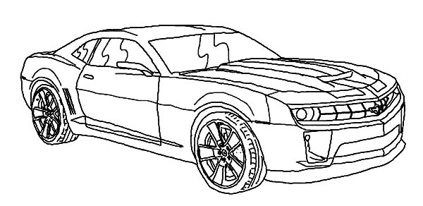 Bumblebee Car Before Transforming To Robot Coloring Pages ...