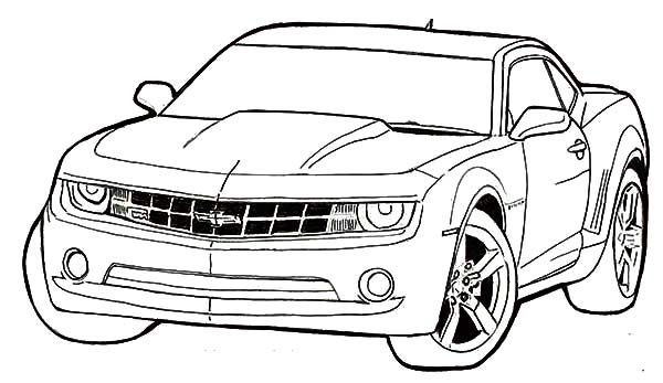 Bumblebee Car Coloring Pages Best Place To Color