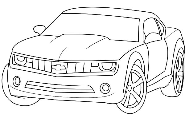 bumblebee car coloring pages - photo#22