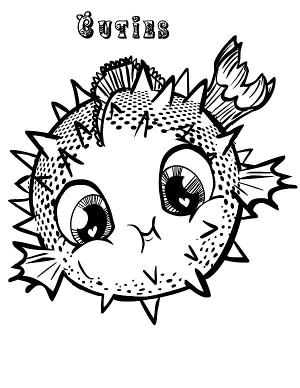 Puffer Fish Coloring Page 28 Images Pictures Of