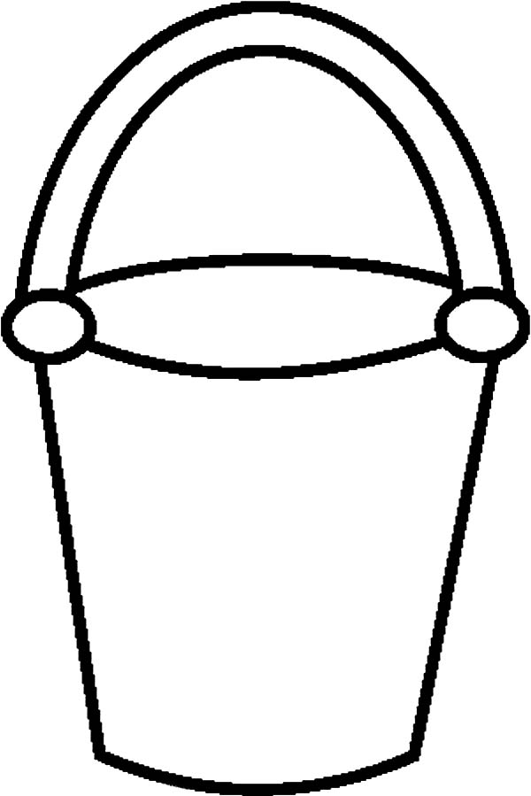 It is a photo of Inventive Sand Bucket Coloring Page