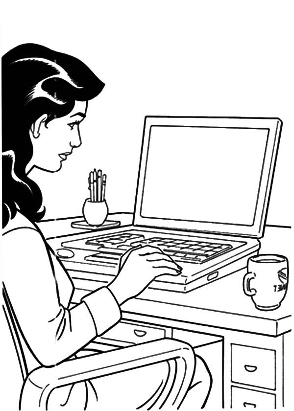 Girl is Working Her Business Coloring Pages | Best Place to Color