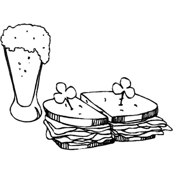 Rootbeer coloring pages ~ Green Beer And Sandwich Coloring Pages : Best Place to Color